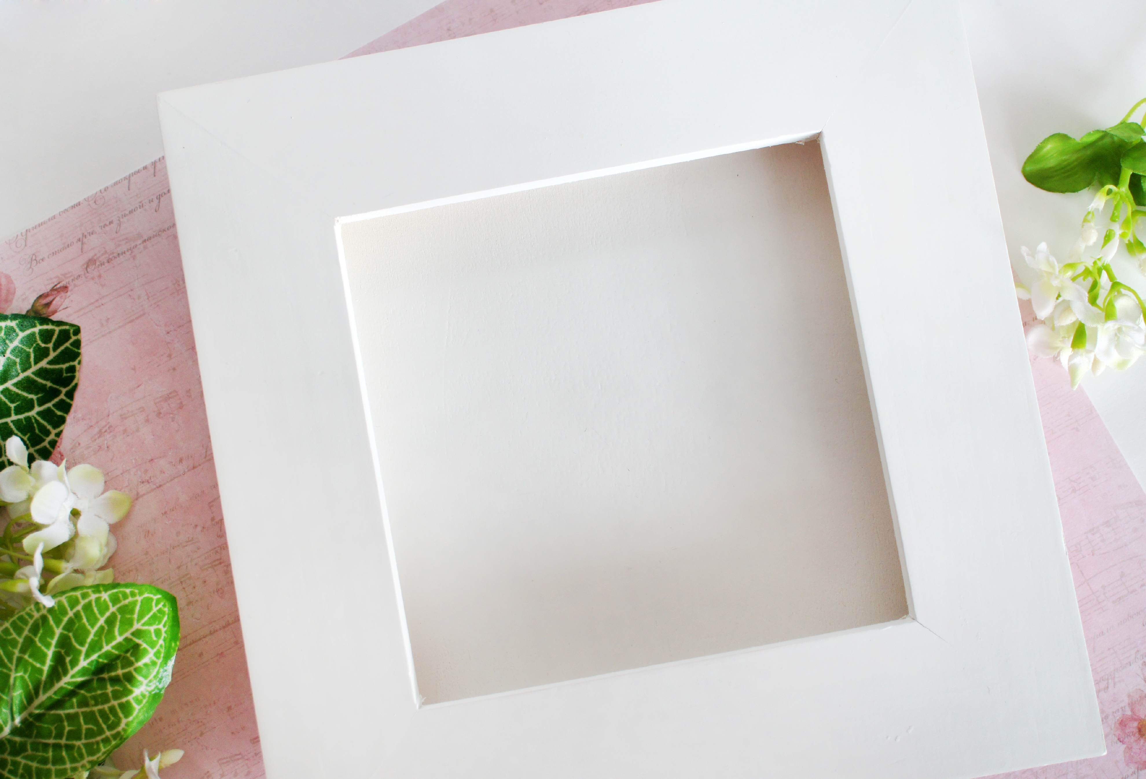 Как сделать объемные рамки на фото